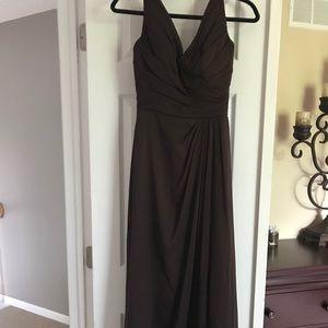 Full length bridesmaids dress